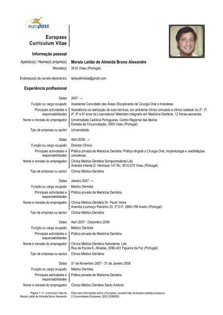 curriculum vitae assistente dentaria