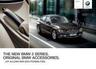THE NEW BMW  SERIES. ORIGINAL BMW ACCESSORIES.