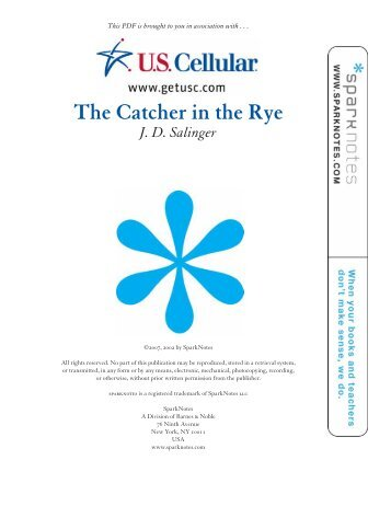 the settings for the catcher in the rye So begins the new york adventure of holden caulfield in ''the catcher in the  rye,'' the j d salinger novel that was published 50 years ago.