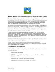 1 Dairy 2012 v3 Animal Welfare Approved Standards for Dairy Cattle ...