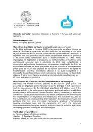 Unidade Curricular: Genética Molecular e Humana / Human and ...