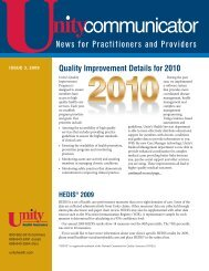 Issue 3, 2009 - Unity Health Insurance