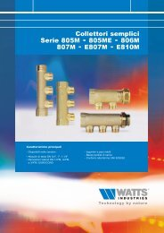 Collettori semplici serie 805M-805ME-806M ... - WATTS industries