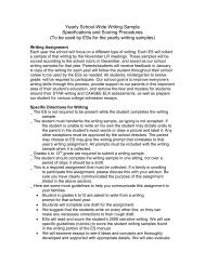 Yearly School-Wide Writing Sample Specifications and Scoring ...