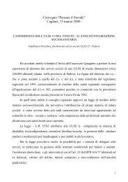 Esperienza Ussl 15 del Veneto - Sociale