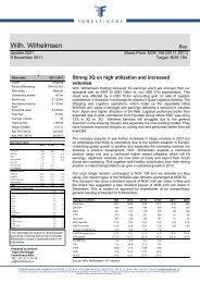 Wilh. Wilhelmsen - Fondsfinans