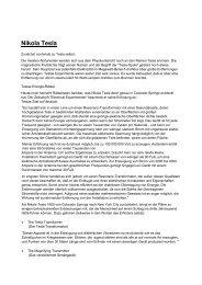 8 Seiten Kurzbericht über die Hintergründe zwischen Morgen u. Tesla