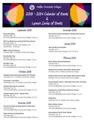 2013 - 2014 Calendar of Events & Lyceum Series of Events - Halifax ...