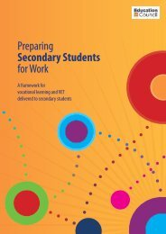 Preparing Secondary Students for Work