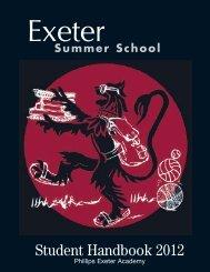 Student Handbook 2012 - Phillips Exeter Academy