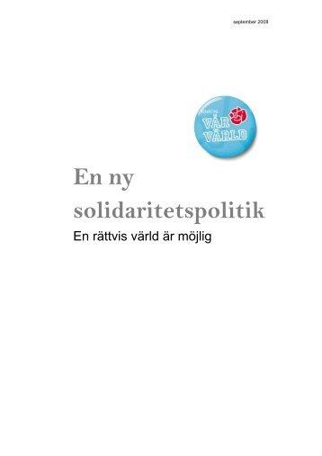 En ny solidaritetspolitik - Socialdemokraterna