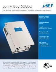 SB600U Inverter Data Sheet - Solar Cell Sales