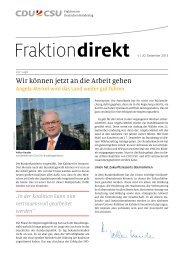 Fraktion Direkt - CDU/CSU-Bundestagsfraktion