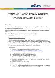 Proceso para Tramitar Visa para Estudiante Programa Intercambio ...