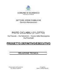 Relazione tecnica - Comune di Scandicci