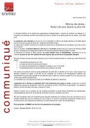 CP Réforme des Etudes 071112.pdf - snmkr - Free