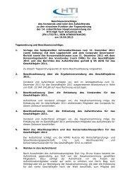 Beschlussvorschläge von Vorstand und Aufsichtsrat