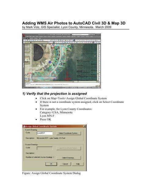 Adding WMS Air Photos to AutoCAD Civil 3D & Map 3D - MnGeo