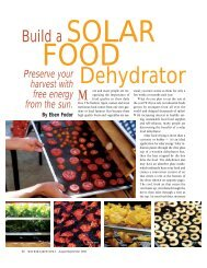 Build a Solar Food Dehydrator - SunWorks Solar Food Dryer