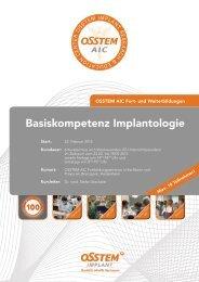 Basiskompetenz Implantologie - Osstem.
