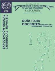 Guía para Docentes dirigida a la comunidad educativa, 2003
