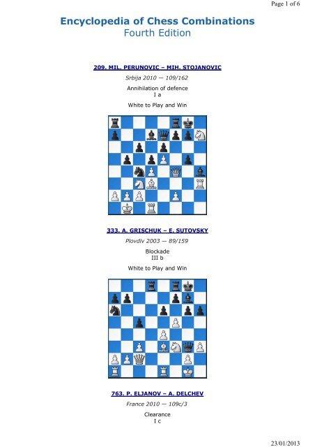 Encyclopedia Of Chess Combinations Pdf
