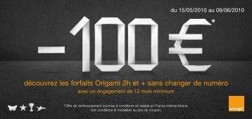 découvrez les forfaits Origami 2h et + sans changer ... - Orange mobile