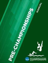 Pre Championships Manual - cscaa