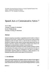 Speech Acts or Communicative Action ? - ecscw
