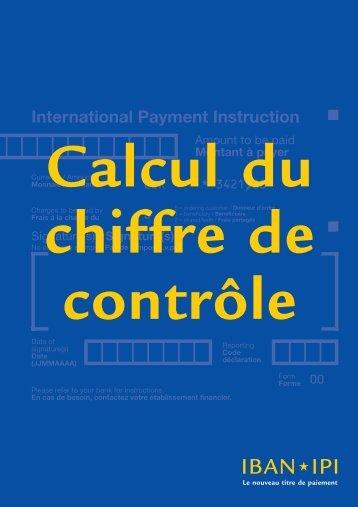 IBAN: Calcul du chiffre de contrôle [pdf]