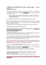 Vademecum Esami Lingua Inglese (pdf, it, 16 KB, 9/8/13)