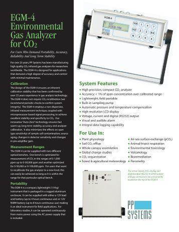 EGM-4 Data Sheet - PP Systems
