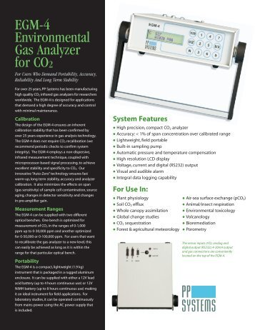 EGM-4 Data Sheet - PP Systems