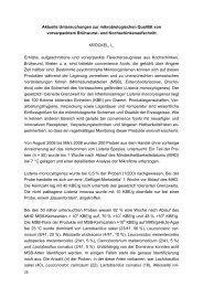Aktuelle Untersuchungen zur mikrobiologischen Qualität von ...