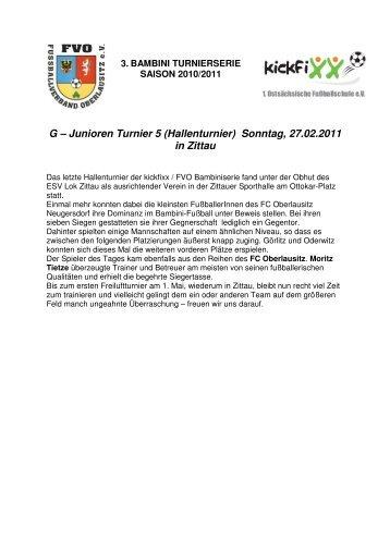 Spieltag 05 (27.02.2011) in Zittau - Fussballverband Oberlausitz
