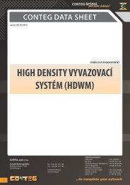 HIGH DENSITY VYVAZOVACÍ SYSTÉM (HDWM) - Conteg