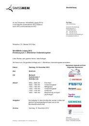 WorldSkills Leipzig 2013 Einladung zum 1. öffentlichen ... - SwissSkills