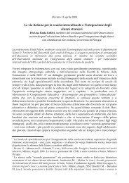 La via italiana per la scuola interculturale e l ... - e-SPICES