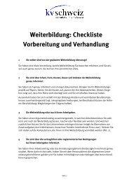Weiterbildung: Checkliste Vorbereitung und ... - KV Schweiz
