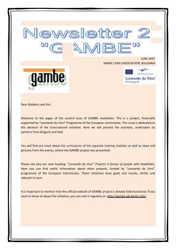 Newsletter 2 - gambe-leonardo.eu