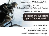 Is Health and Wellbeing good for business? - Humanistic ...