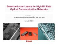 Semiconductor Lasers for High Bit Rate Optical Communication ...