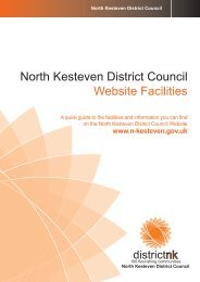 North Kesteven District Council Website Facilities