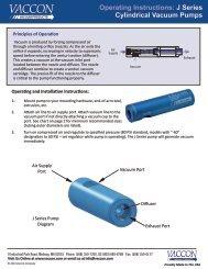 VACCON VDF 250 Variable Vacuum//Flow Pumps used ??