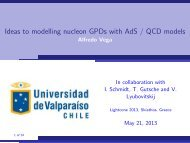 Ideas to modelling nucleon GPDs with AdS / QCD models - Alfredo ...