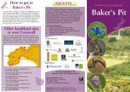 Heathland Self Guided Trails Baker's Pit - Cornwall Wildlife Trust