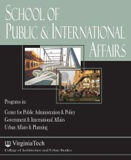 Current SPIA Brochure... - School of Public and International Affairs