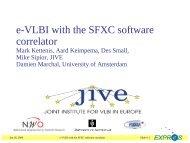 e-VLBI with the SFXC software correlator