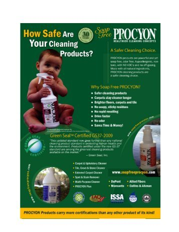 Materials Safety Data Sheet - Soap Free - PROCYON