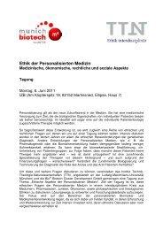 Ethik der Personalisierten Medizin - Tagungsprogramm.pdf - Bio M